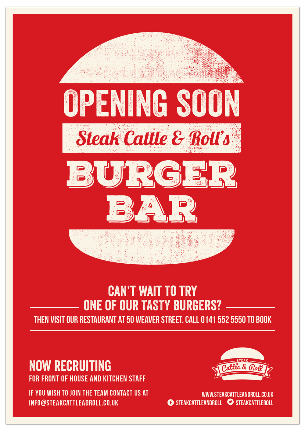 Steak, Cattle & Roll scr poster