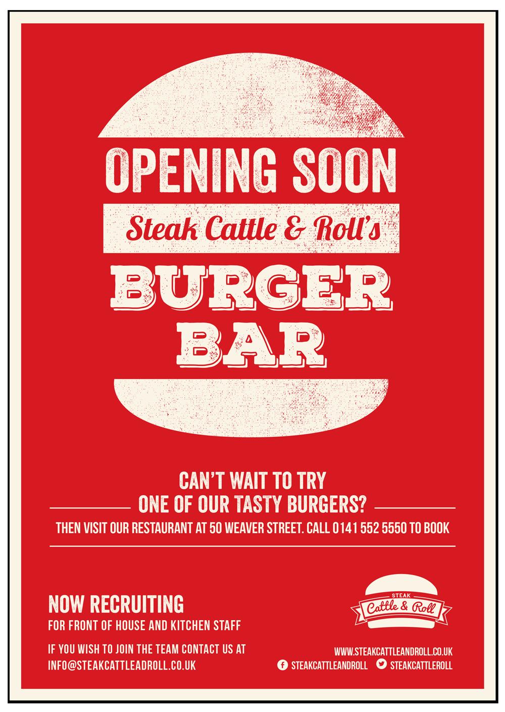 Steak, Cattle & Roll scr poster