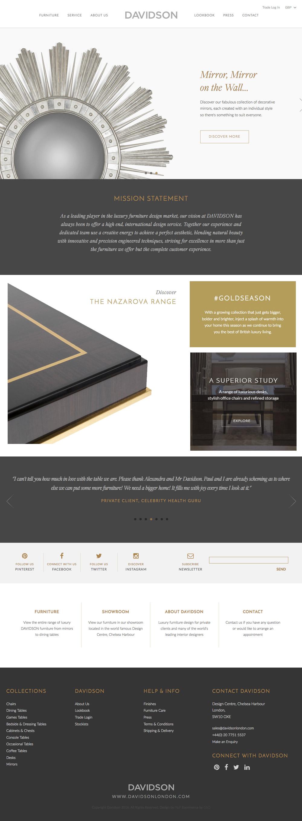 Davidson London davidson homepage2