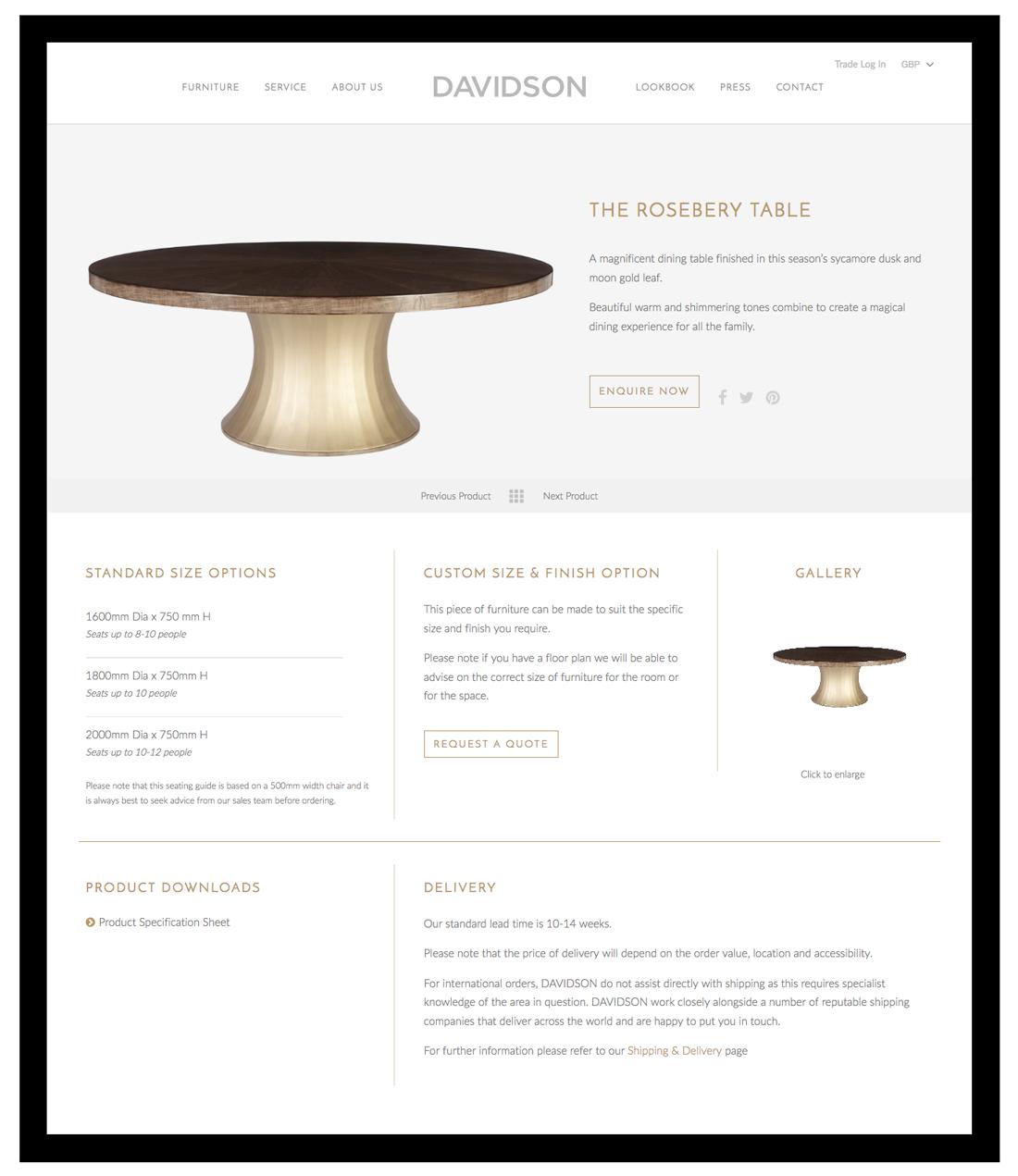 Davidson London davidson product page