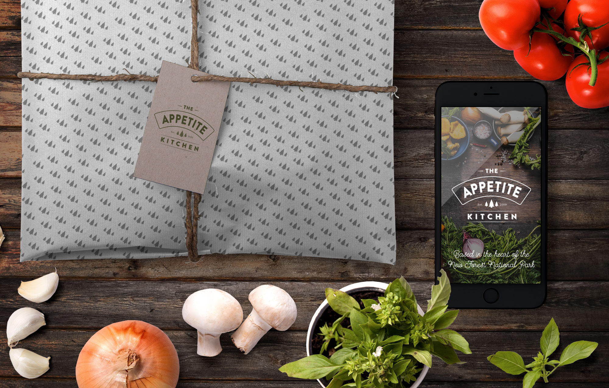 The Appetite Kitchen packaging mockup