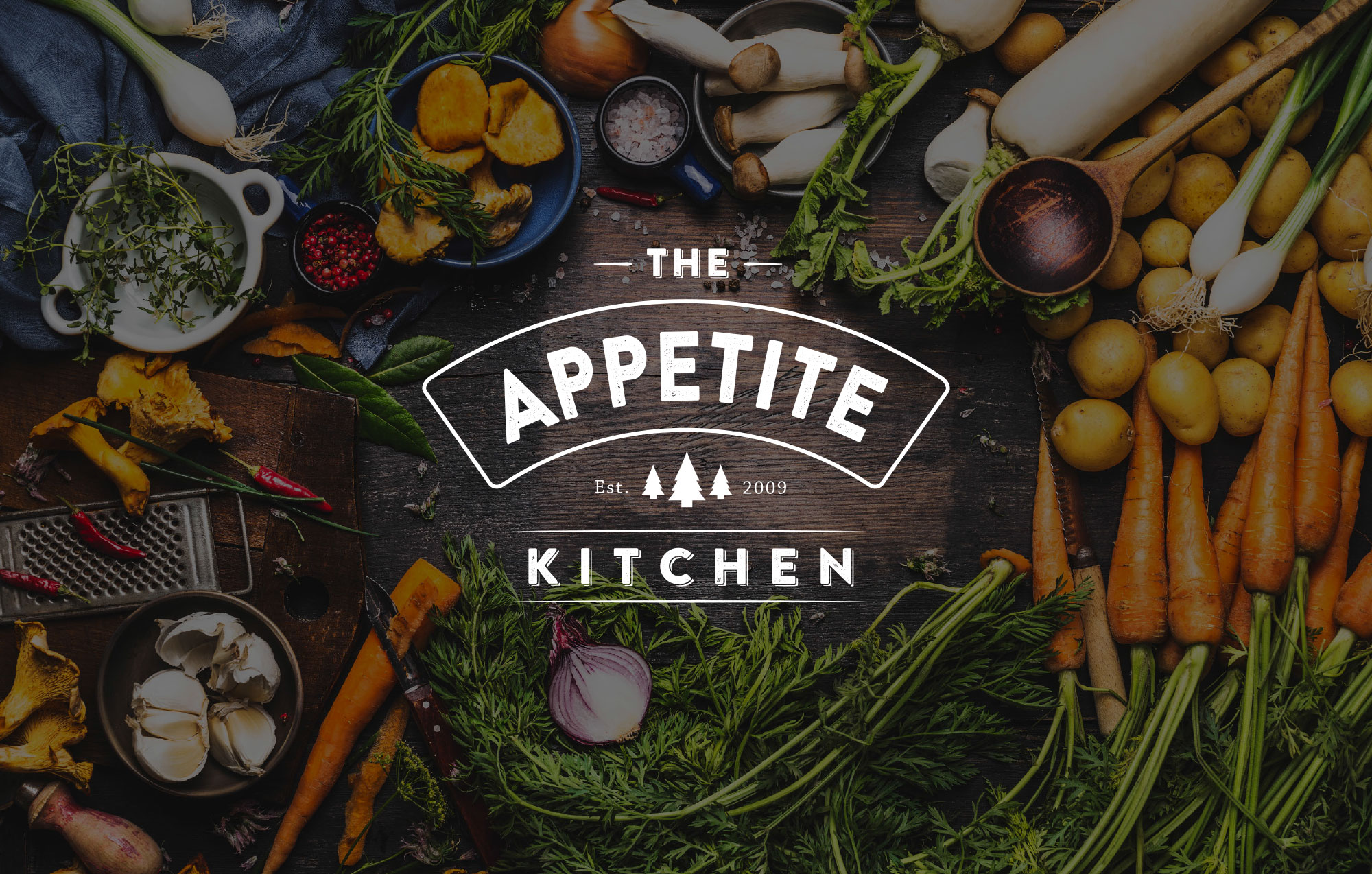 The Appetite Kitchen tak logo mockup