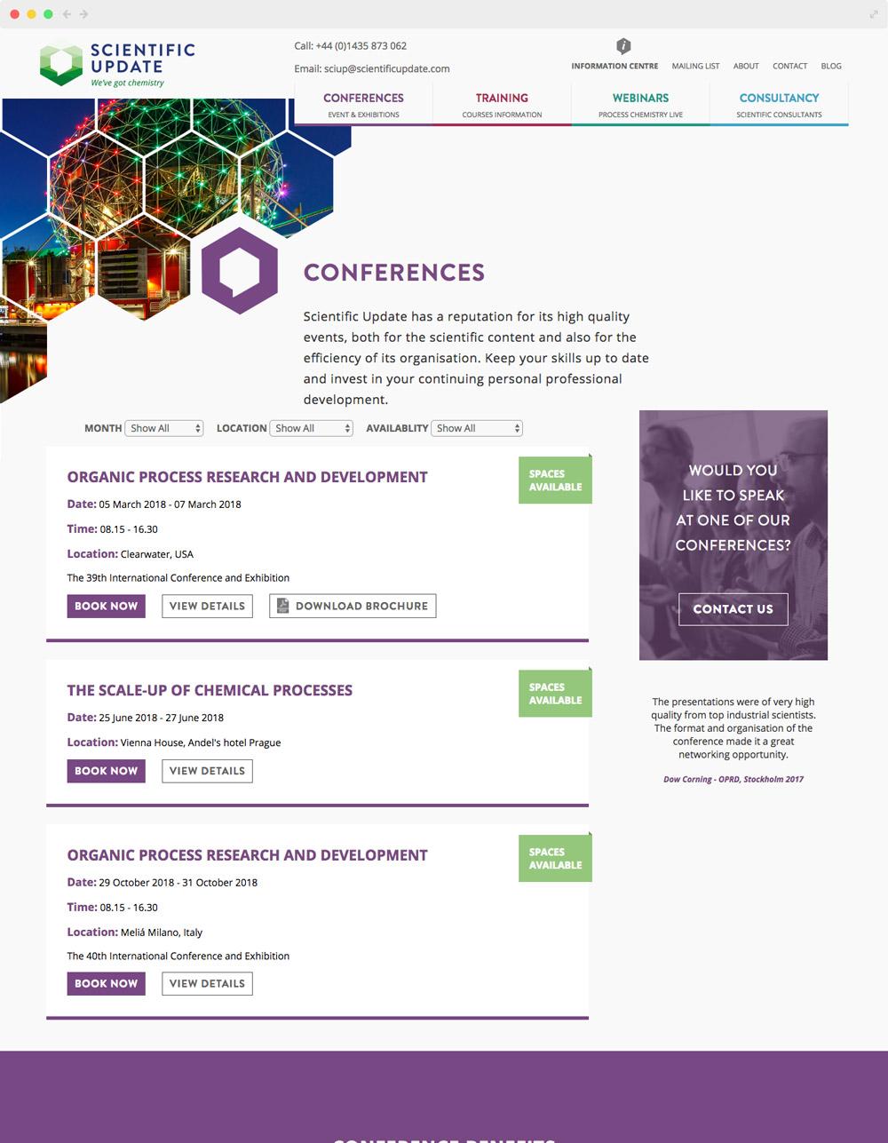Scientific Update su conferences